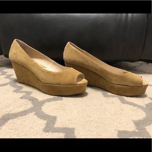Michael Kors McGraw Peep Toe Wedges Size 7.5